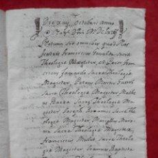 Manuscritos antiguos: MANUSCRITO AÑO 1667 VALENCIA CONVENTO PREDICADORES QUITAMIENTO DE 3 CENSALES 14 PÁGS.. Lote 294572158