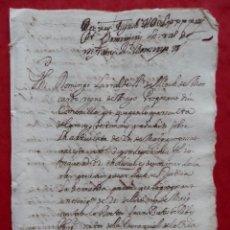 Manuscritos antiguos: MANUSCRITO AÑO 1694 MOSCARDO?? PATERNA VALENCIA DEMANDA JUDICIAL EN VALENCIANO. Lote 294573558