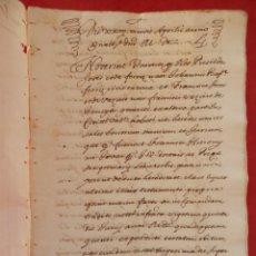 Manuscritos antiguos: MANUSCRITO AÑO 1651 VALENCIA PARTICIÓN HECHA DE VARIOS CENSALES HERMANOS JOVER 27 PÁGS. Lote 294580123