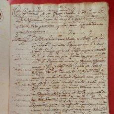 Manuscritos antiguos: 3 MANUSCRITOS AÑO 1749 VALENCIA PLEITO 27 PÁGS SOBRE RECLAMACIÓN PAGO DE UN CENSO 14 PÁGS. Lote 294678583