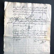 Manuscritos antiguos: LA FRESNEDA AÑO 1780 / TESTAMENTO DE JOSEPH PUEYO / ANTE EL NOTARIO DOMINGO CASANOVA / TERUEL. Lote 294864008