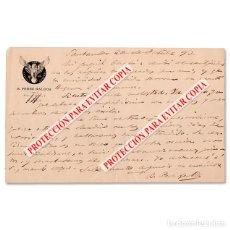 Manuscritos antiguos: CARTA ORIGINAL MANUSCRITA Y FIRMADA DE BENITO PÉREZ GALDÓS DIRIGIDA A RUPERTO CHAPÍ. SANTANDER, 1890. Lote 294933163