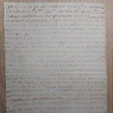 Manuscritos antiguos: ANTIGUA CARTA MANUSCRITA.SECRETARIO SUBSIDIO GERONA. SISCAR CALDERON.AGRAMUNT 1828.. Lote 296614698