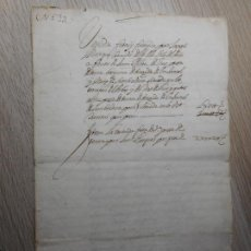 Manuscritos antiguos: ANTIGUA ESCRITURA.MANUSCRITO.JOSEPH MARQUES.JOAN PALAU.VILLA DE ARBOS.CATALUÑA SIGLO XVII. Lote 296615068