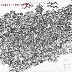 Mapas contemporáneos: PEDRO HARO SIRVENT. AVILA. VISTA AÉREA DEL RECINTO AMURALLADO. PLANO 110X15 CM. 1976. CYL. AVILA. Lote 26197075