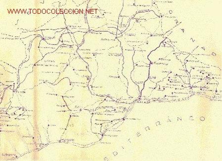 PLANO DE CARRETERAS Y CAMINOS VECINALES (MÁLAGA) (Coleccionismo - Mapas - Mapas actuales (desde siglo XIX))
