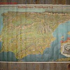 Mapas contemporáneos: PRECIOSO CARTEL-MAPA DE ESPAÑA COMPAÑIA MECANOGRAFICA GUILLERMO TRUNIGER S.A. BARCELONA. Lote 27454487