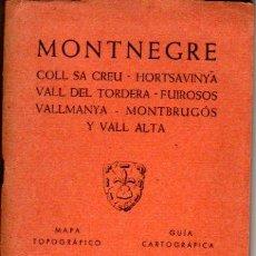 Mapas contemporáneos: GUIA CARTOGRAFICA Y MAPA DE MONTNEGRE 1966. Lote 20586748