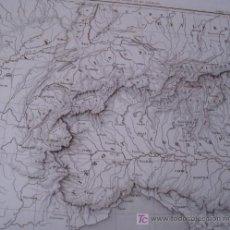 Mapas contemporáneos: SUIZA Y NORTE DE ITALIA ** LYON A VENECIA * ESTRASBURGO NIZA ** CIRCA 1850 * MAPA GRABADO AL ACERO . Lote 24030072