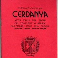 Mapas contemporáneos: GUIA CARTOGRAFICA Y MAPA DE CERDANYA 1985. Lote 20586750
