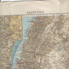 Mapas contemporáneos: PRECIOSO MAPA DE PALESTINA. JUDEA . JERUSALEN. EDITADO POR EL MONESTIR DE MONTSERRAT.. Lote 4697747