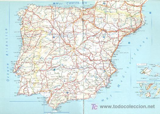 Mapa Carreteras De Espana Y Portugal Sold At Auction 5677292