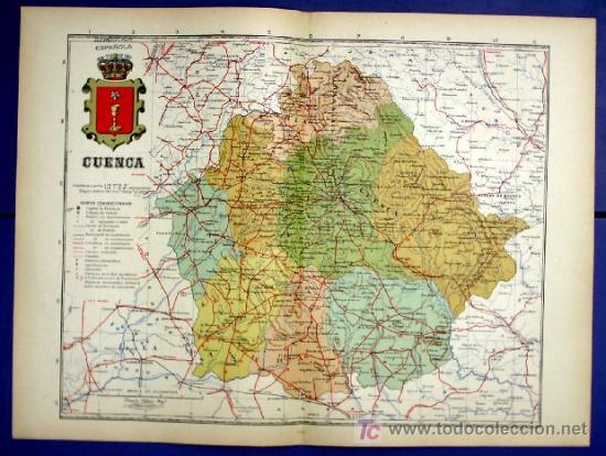 Mapa De La Provincia De Cuenca Por Benito Chia Comprar Mapas