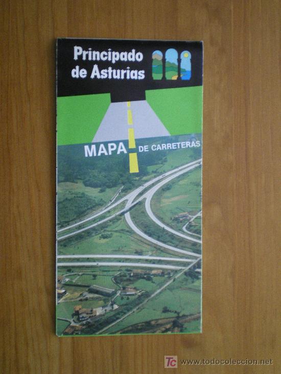 Asturias  Mapa De Carreteras  1986