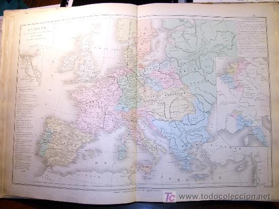 """ATLAS CLASSIQUE DE GÉOGRAPHIE ANCIENNE ET MODERNE 1877 DE DRIOUX ET CH. LEROY"""" , (Coleccionismo - Mapas - Mapas actuales (desde siglo XIX))"""