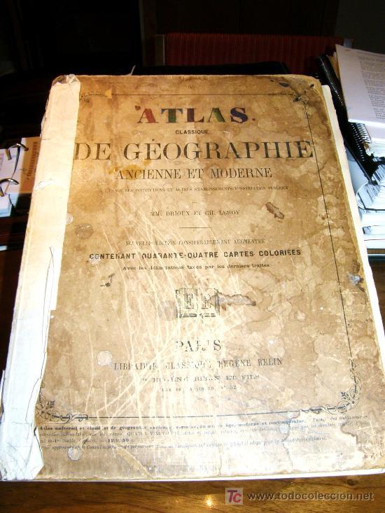 """Mapas contemporáneos: ATLAS CLASSIQUE DE GÉOGRAPHIE ANCIENNE ET MODERNE 1877 DE DRIOUX ET CH. LEROY"""" , - Foto 4 - 26931885"""