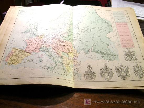 """Mapas contemporáneos: ATLAS CLASSIQUE DE GÉOGRAPHIE ANCIENNE ET MODERNE 1877 DE DRIOUX ET CH. LEROY"""" , - Foto 5 - 26931885"""