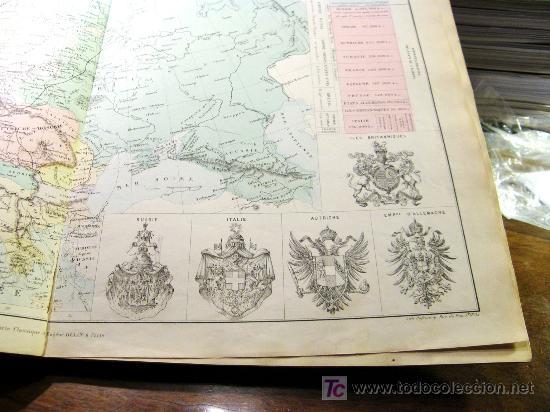 """Mapas contemporáneos: ATLAS CLASSIQUE DE GÉOGRAPHIE ANCIENNE ET MODERNE 1877 DE DRIOUX ET CH. LEROY"""" , - Foto 6 - 26931885"""