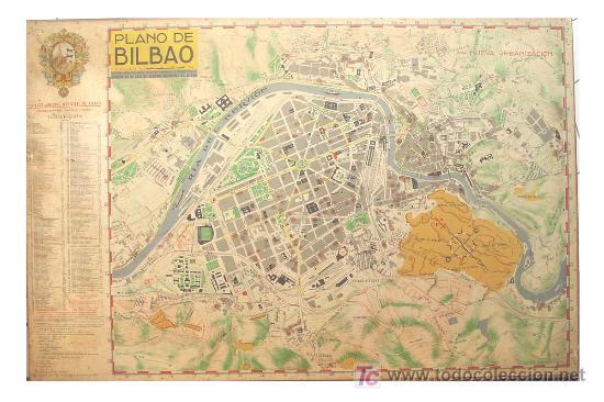Mapas contemporáneos: PLANO ANTIGUO DE BILBAO - Foto 2 - 26930472