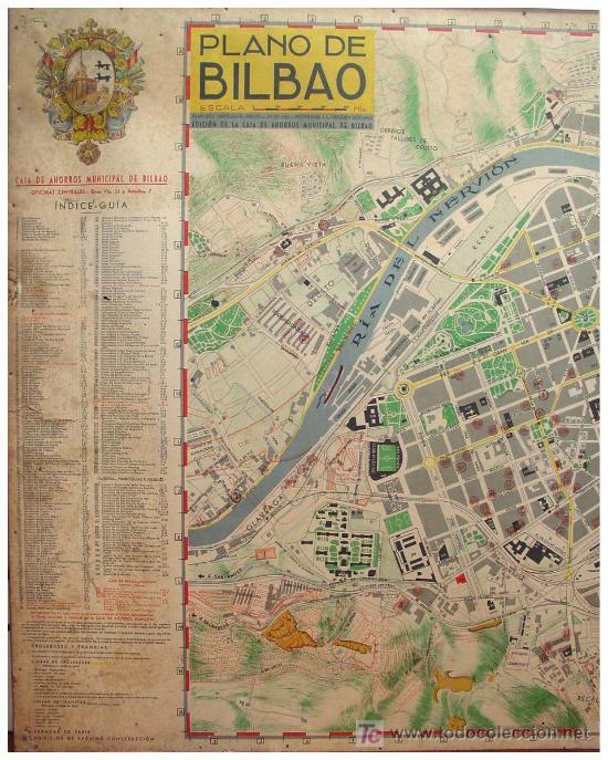 Mapas contemporáneos: PLANO ANTIGUO DE BILBAO - Foto 3 - 26930472