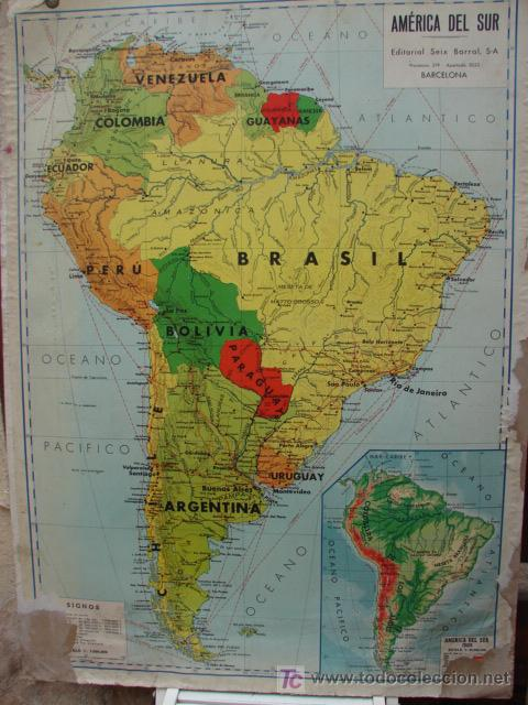 mapa escolar acartonado de america del norte y - Kaufen ...