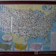 Mapas contemporáneos: MAPA PICTÓRICO DE LOS ESTADOS UNIDOS DE AMÉRICA. Lote 27300886