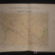 Mapas contemporáneos: MAPA AGRONOMICO NACIONAL. FUENTES DE EBRO. ZONAS DE SUELO. 1950. Lote 26296856