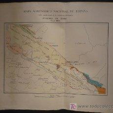 Mapas contemporáneos: MAPA AGRONOMICO NACIONAL. ALCALA DE HENARES. MASAS Y CULTIVO FORESTAL. 1949. Lote 26879937
