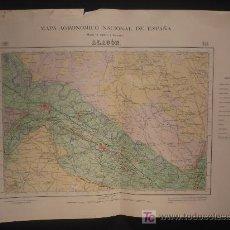 Mapas contemporáneos: MAPA AGRONOMICO NACIONAL. ALAGON- UTEBO HOJA 354 1950. Lote 22734559