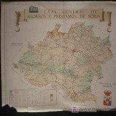 Mapas contemporáneos: MAPA PROVINCIA DE SORIA. CAJA AHORROS SORIA. AÑO 1968. Lote 26855300