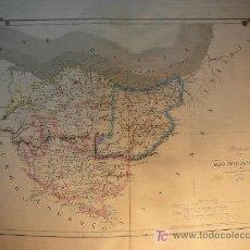 Mapas contemporáneos: MAPA ANTIGUO ALAVA GUIPUZCOA VIZCAYA 1853 . Lote 7456662
