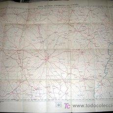 Mapas contemporáneos: MAPA MILITAR ITINERARIO DE ESPAÑA ENTELADO - PROVINCIAS DE BADAJOZ, PORTUGAL - AÑO 1919 - Nº 62. Lote 7843148