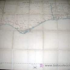 Mapas contemporáneos: MAPA MILITAR ITINERARIO ESPAÑA ENTELADO PROVINCIAS DE HUELVA - AÑO 1901 Nº 82. Lote 7843307