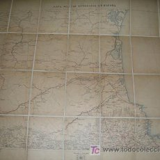 Mapas contemporáneos: MAPA MILITAR ITINERARIO DE ESPAÑA ENTELADO PROVINCIAS DE GERONA (NORTE) - AÑO 1916 - Nº 19. Lote 7843504