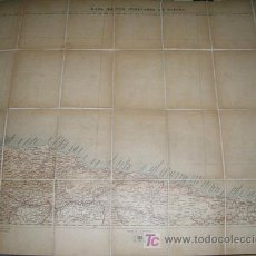 Contemporary maps - MAPA MILITAR ITINERARIO ESPAÑA ENTELADO PROVINCIAS DE ASTURIAS, SANTANDER (NORTE) AÑO 1912 - Nº 4 - 7843586