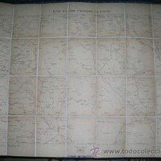 Mapas contemporáneos: MAPA MILITAR ITINERARIO DE ESPAÑA ENTELADO - PROVINCIAS CUENCA, GUADALAJARA, TERUEL - AÑO 1916 Nº 46. Lote 8212915