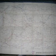 Mapas contemporáneos: MAPA MILITAR ITINERARIO DE ESPAÑA ENTELADO - PROVINCIAS HUESCA ZARAGOZA TERUEL AÑO 1918 Nº 37. Lote 8226476