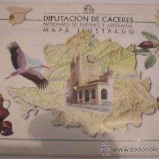 Mapas contemporáneos: MAPA DE EXTREMADURA ILUSTRADO. Lote 8393459