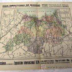 Mapas contemporáneos: MAPA PROVINCIA VALENCIA ANUARIOS BAILLY-BAILLIERE Y RIERA BARCELONA AÑOS 30. Lote 9246473