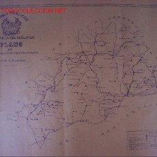 Mapas contemporáneos: MALAGA. PLANO DE CARRETERAS Y CAMINOS VECINALES. . Lote 19399452