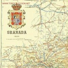 Mapas contemporáneos: GRANADA. MAPA DE LA PROVINCIA. BENITO CHÍAS Y CARBÓ (1902). Lote 27083744