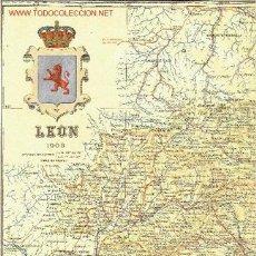 Mapas contemporáneos: MAPA DE LA PROVINCIA DE LEÓN. BENITO CHÍAS Y CARBÓ (1903). Lote 20430120