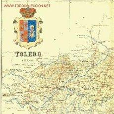 Mapas contemporáneos: TOLEDO. MAPA DE LA PROVINCIA. BENITO CHÍAS Y CARBÓ, 1902. Lote 27083735