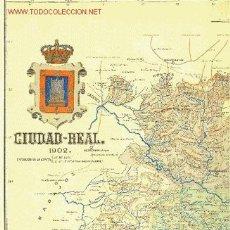 Mapas contemporáneos: CIUDAD REAL. MAPA DE LA PROVINCIA. BENITO CHÍAS Y CARBÓ, 1902. Lote 27083732