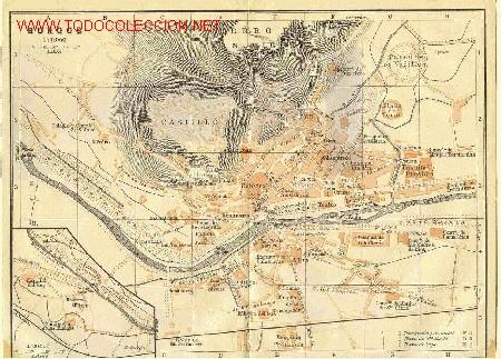 Mapa De Burgos Ciudad.1900 Plano De La Ciudad De Burgos Sold Through Direct