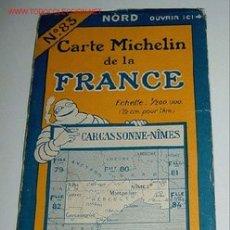 Mapas contemporáneos: CARTE MICHELIN DE LA FRANCE - CARCASSONE - NIMES - MICHELIN - Nº 83 - AÑO 1927 APROXIMADAMENTE - MA. Lote 2095930