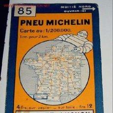 Mapas contemporáneos: ANTIGUO MAPA DE MICHELIN DE ESPAÑA - PNEU MICHELIN - BIARRITZ LUCHON - Nº 85 - GUIA CARRETERA - COCH. Lote 2100205