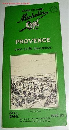 ANTIGUO MAPA DE CARRETERAS GUIDE DE PNEU PROVENCE - MICHELIN - PLANO PLEGADO (Coleccionismo - Mapas - Mapas actuales (desde siglo XIX))