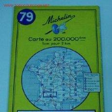 Mapas contemporáneos: ANTIGUO MAPA DE MICHELIN ESPAÑA - NEUMATICOS MICHELIN - BOURDEAUX MONTAUBAN- Nº 79 - GUIA CARRETERA . Lote 2100597