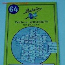 Mapas contemporáneos: ANTIGUO MAPA DE MICHELIN ESPAÑA - NEUMATICOS MICHELIN - ANGERS ORLEANS - Nº 64 - GUIA CARRETERA - CO. Lote 2100601